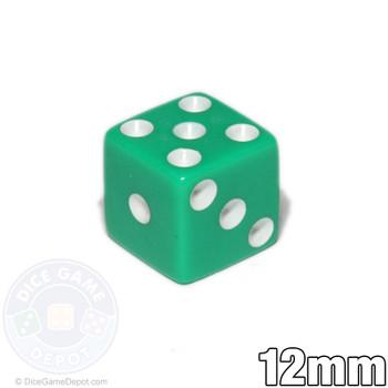 12mm Opaque Green Dice