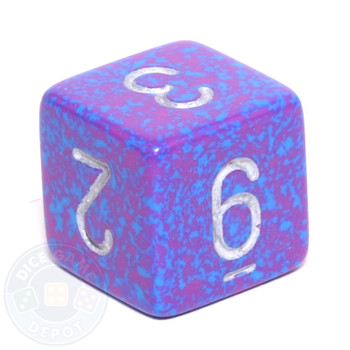 d6 - Speckled Silver Tetra dice