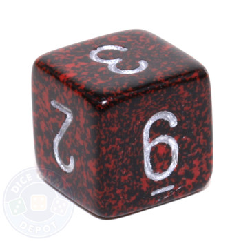 d6 - Speckled Silver Volcano dice