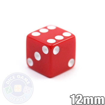 12mm Opaque Red Dice