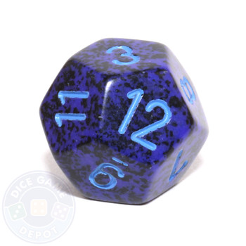 d12 - Speckled Cobalt 12-sided Dice