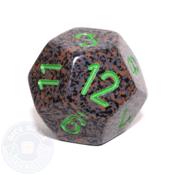 d12 - Speckled Earth 12-sided Dice