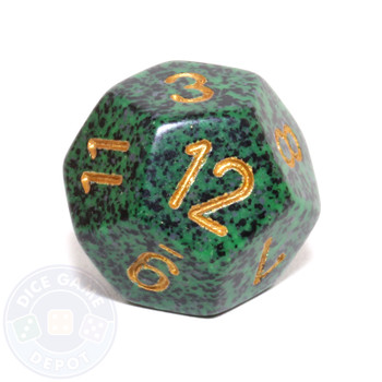 d12 - Speckled Golden Recon 12-sided Dice