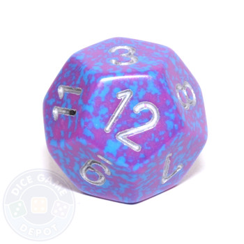 d12 - Speckled Silver Tetra 12-sided Dice
