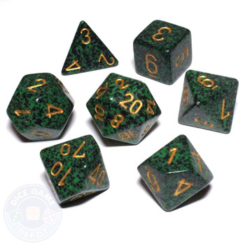 Golden Recon Speckled D&D dice set