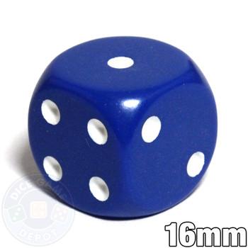 Round-corner dice - 16mm - Blue