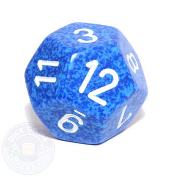 d12 - Speckled Water 12-sided Dice