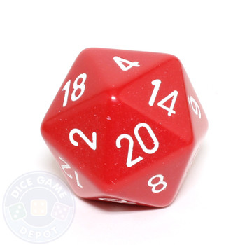 Big d20 - 34mm opaque red dice