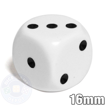 Opaque round-corner white dice with rounded corners