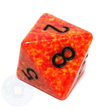d8 - Speckled Fire 8-sided Dice