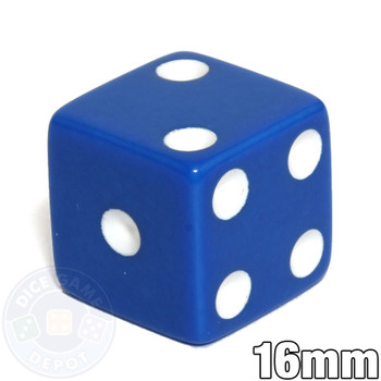 Opaque Dice - 16mm - Blue