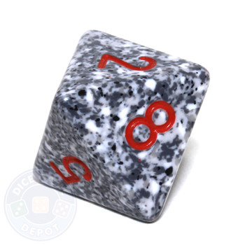 d8 - Speckled Granite 8-sided Dice