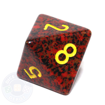 d8 - Speckled Mercury 8-sided Dice