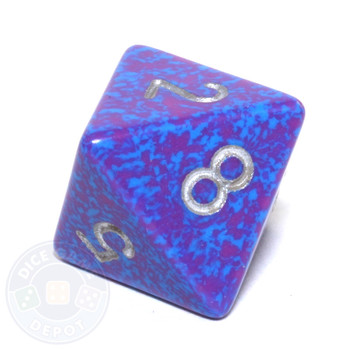 d8 - Speckled Silver Tetra 8-sided Dice