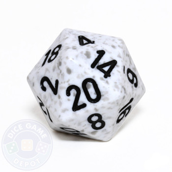 d20 - Speckled Arctic Camo 20-sided Dice