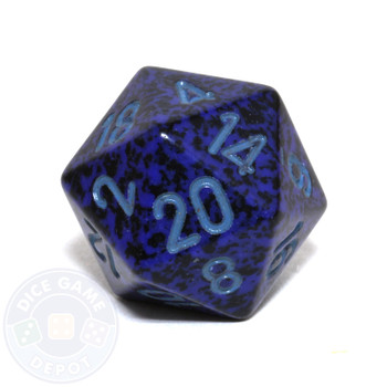 d20 - Speckled Cobalt 20-sided Dice