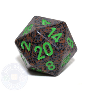 d20 - Speckled Earth 20-sided Dice