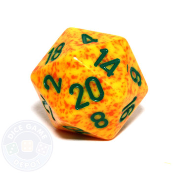 d20 - Speckled Lotus 20-sided Dice