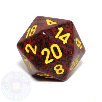 d20 - Speckled Mercury 20-sided Dice