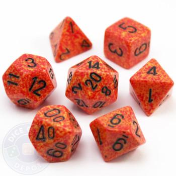 7-Piece Polyhedral Dice Set - Elemental Fire