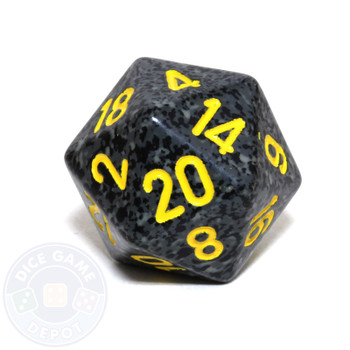 d20 - Speckled Urban Camo 20-sided Dice