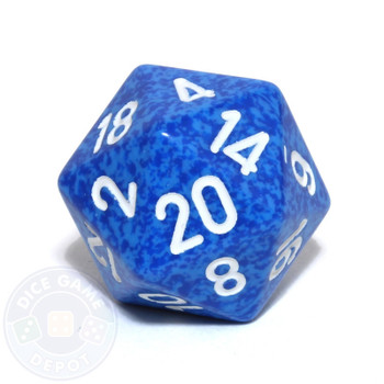 d20 - Speckled Water 20-sided Dice