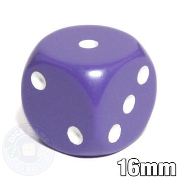 Purple dice - 16mm round-corner