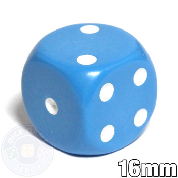 Opaque Round-Corner Dice - Light Blue d6