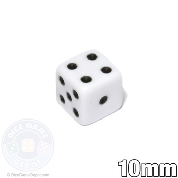 Opaque Dice - White 10mm d6