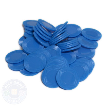 Mini poker chips - Blue