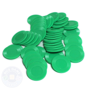 Mini poker chips - Green