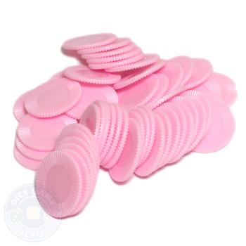 Mini poker chips - Pink