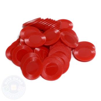 Mini poker chips - Red