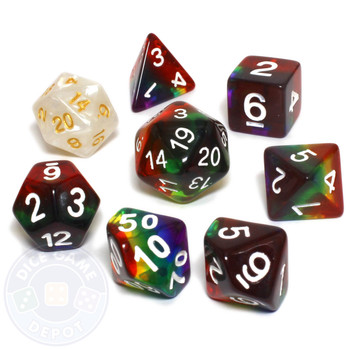 Rainbow dice set