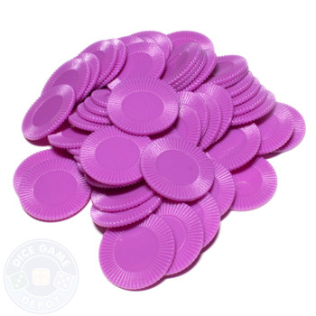 Purple mini poker chips