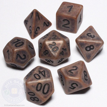Ancient Copper dice set - DnD dice