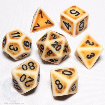 Ancient Brown dice set - DnD dice