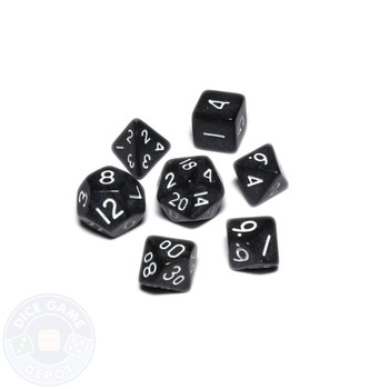 Mini dice set - Alchemical Elements - Black Pearl