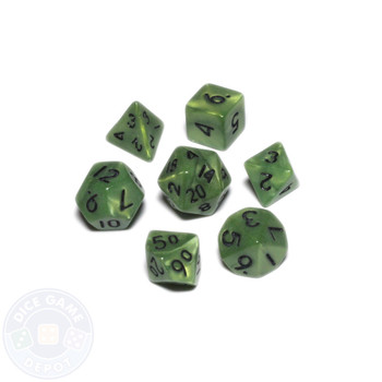 Mini dice set - Alchemical Elements - Swamp Algae
