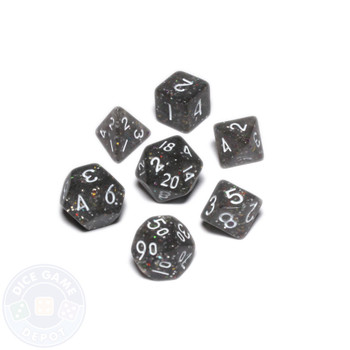 Mini dice set - Alchemical Elements - Powdered Iron