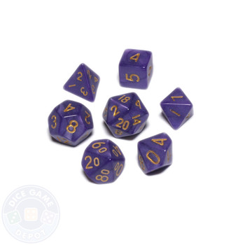 Mini dice set - Alchemical Elements - Nightshade