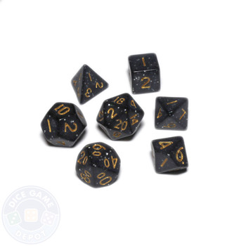 Mini dice set - Alchemical Elements - Void Crystals