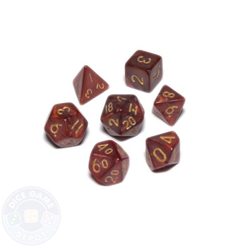 Mini dice set - Alchemical Elements - Dragon's Blood