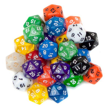 Pack of 25 Random D20 Polyhedral Dice