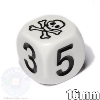 Skull dice - White