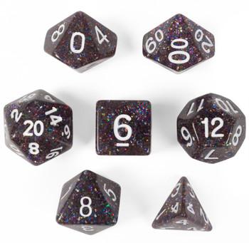 Glitter Polyhedral Dice Set - Sparklier Vomit