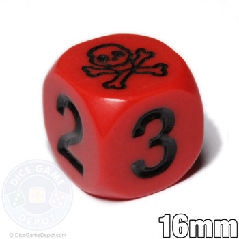 Skull dice - Red