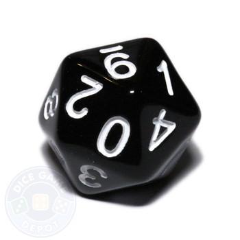 0-9 dice - 20-sided - Black