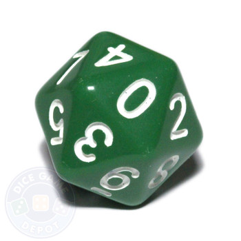 0-9 dice - 20-sided - Green