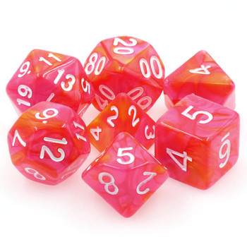 7-piece Fusion dice set - D&D dice - Dragon's Blaze